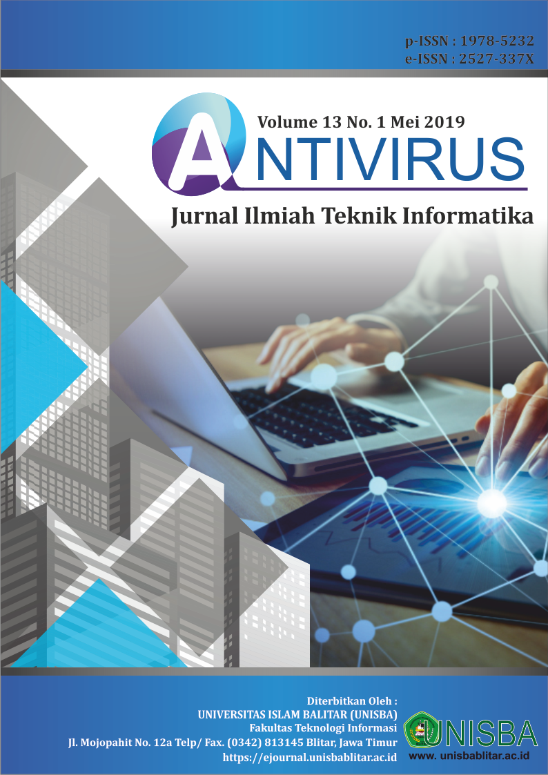 Cover of Vol 13 No 1 Antivirus Jurnal Ilmiah Teknik Informatika
