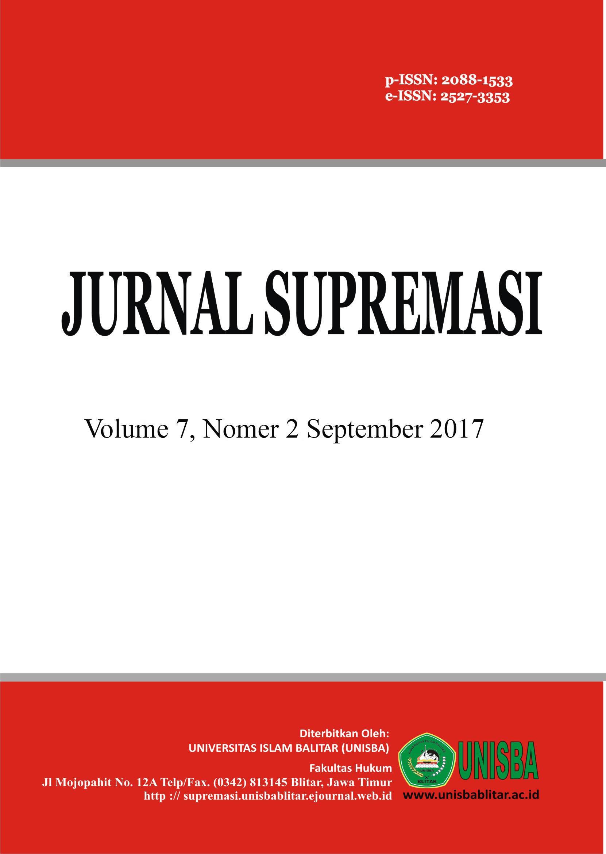Jurnal Supremasi: Volume 7 Nomor 2 Tahun 2017