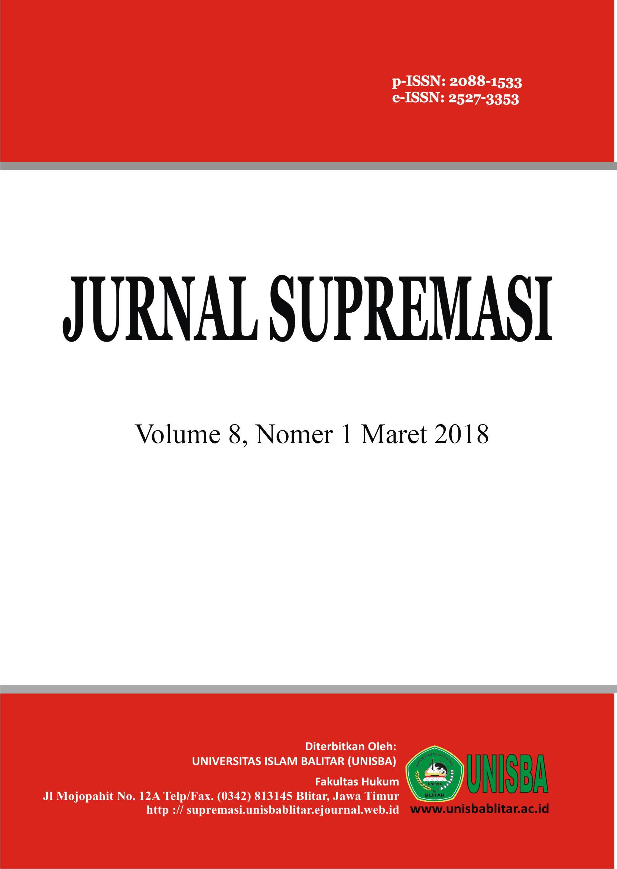 Jurnal Supremasi: Volume 8 Nomor 1 Tahun 2018